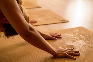 For vigorous yoga styles you'll want a non slip mat dripping preferably in your own sweat! Why not try a cork mat?